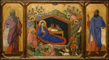 Duccio di Buoninsegna_The Nativity with the Prophets Isaiah and Ezekiel