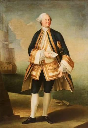 Siries Ceroti, Violante Beatrice, 1709-1783; Captain Sir Edward Hughes (c.1720-1794)